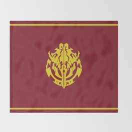 Overlord Anime Emblem: Ainz Ooal Gown (Red & Gold) Throw Blanket