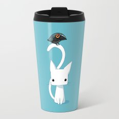 Cat and Raven Travel Mug