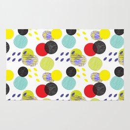 Dots party colorful bubble pattern design combined textures wrap Rug