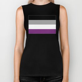 Asexual Flag Biker Tank