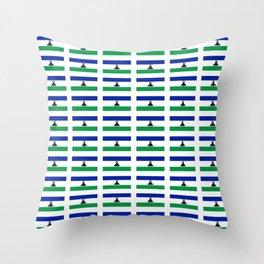 flag of lesotho -maseru,basotho,mosotho,sotho,caledon,sesotho,mokorotlo Throw Pillow