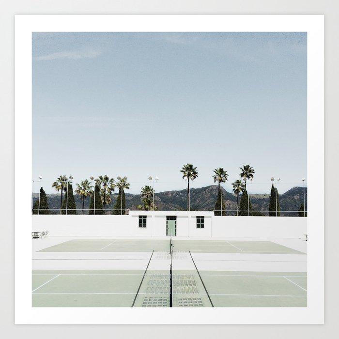 tennis at hearst Art Print