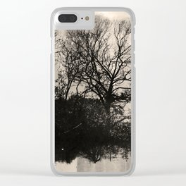Surreal Trees Clear iPhone Case