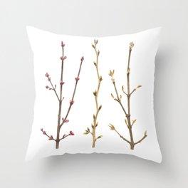 Familiar Branches Throw Pillow