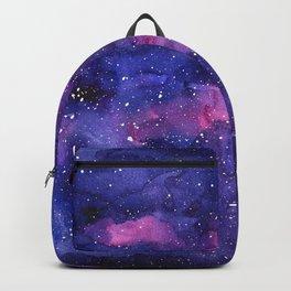 Galaxy Pattern Watercolor Nebula Texture Backpack