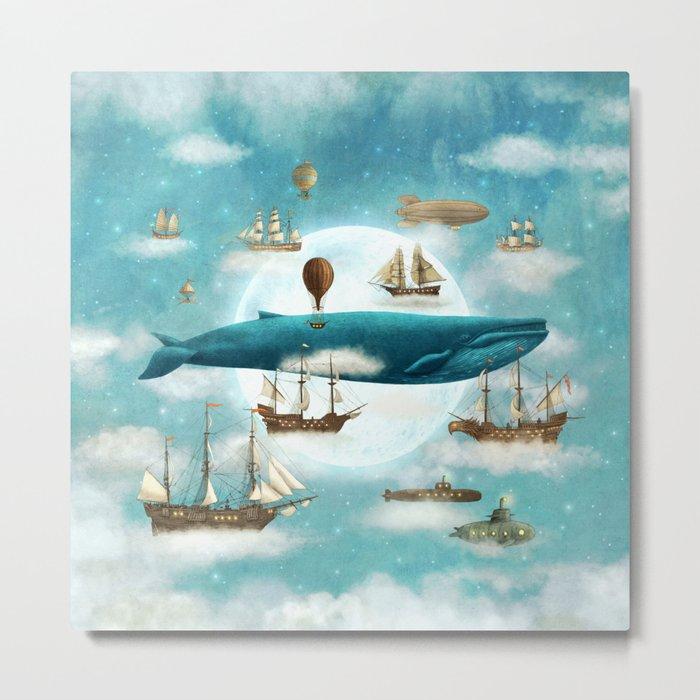 Ocean Meets Sky - revised Metal Print