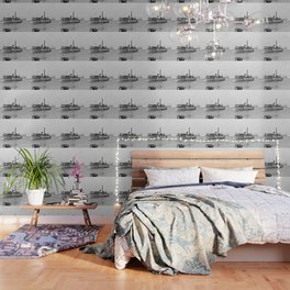 Ticonderoga Side Wheeler Steamboat Wallpaper