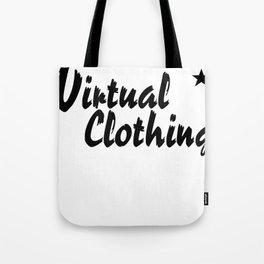 Virtual Clothing Logo T-shirt Tote Bag