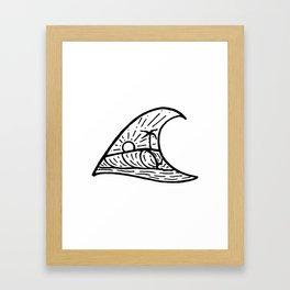 Wave in a Wave Framed Art Print