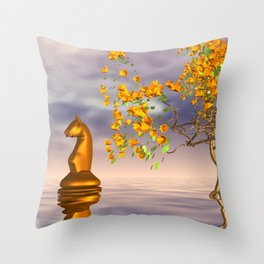 knight's dreamscape Throw Pillow