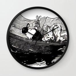 Sea Bunnies Wall Clock