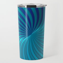 Blue Spiral Vortex G213 Travel Mug