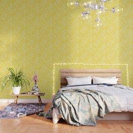 Gen Z Yellow Marigold Lino Cut Wallpaper