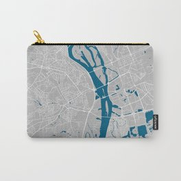 Kiev city map grey colour Carry-All Pouch