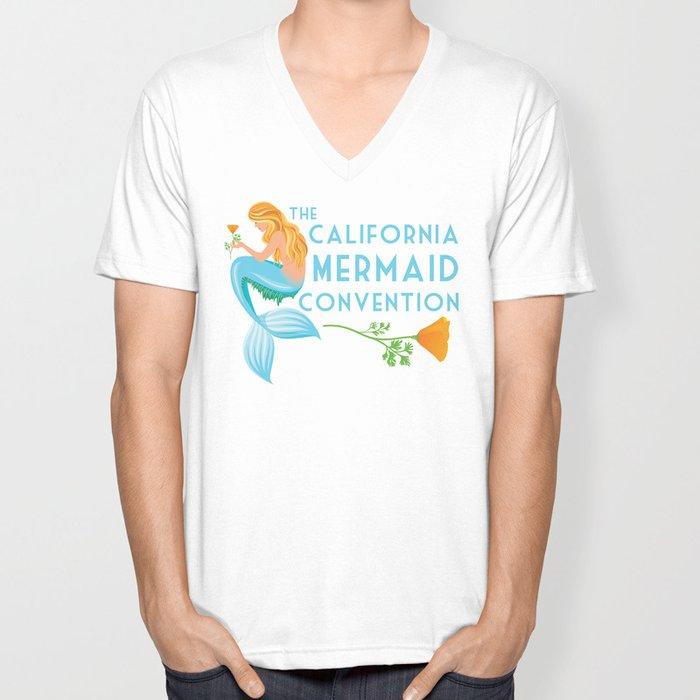 Poster Art ·•· California Mermaid Convention Unisex V-Neck