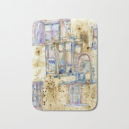 Old Windows Bath Mat
