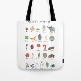 Good Luck from A - Z Tote Bag