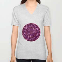 Carved in Stone Mandala Unisex V-Neck
