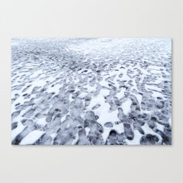 Footprints in the Melting Snow at Whistler Canvas Print