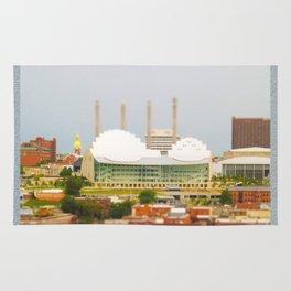 Kansas City Kauffman Center for the Performing Arts Tilt Shift Photograph Rug