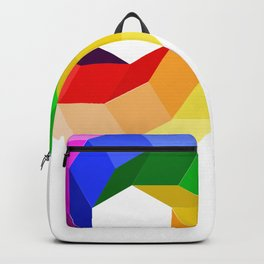 Illusion color wheel forming a hexagon Backpack