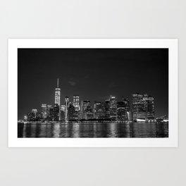 Downtown Manhattan Staten Island Ferry Art Print