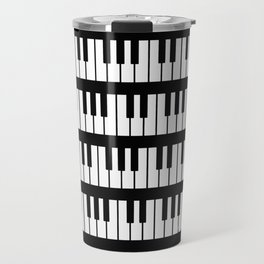 Black And White Piano Keys Pattern Travel Mug