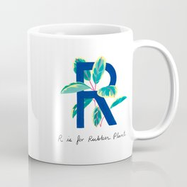 R is for Rubber Plant Coffee Mug
