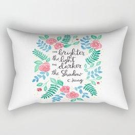 The Brighter the Light Rectangular Pillow