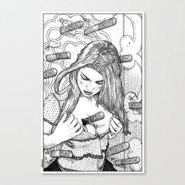 asc 693 - Le lanceur de couteaux jaloux (Professional misconduct) Canvas Print