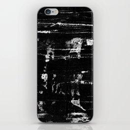 Distressed Grunge 102 in B&W iPhone Skin
