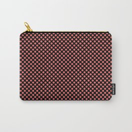 Black and Porcelain Rose Polka Dots Carry-All Pouch