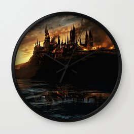 Harry Potter - Hogwart's Burning Wall Clock