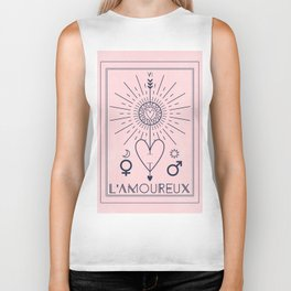 L'Amoureux or The Lover Tarot Biker Tank