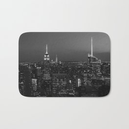 The Empire State and the city. Black & white photography Bath Mat