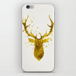 Gold Deer iPhone Skin