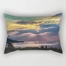 Cloudy sunrise Rectangular Pillow
