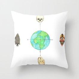 Anthropology: The Four Subdisciplines (Version 1.0) Throw Pillow