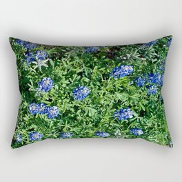 Stepping Out In Blue Rectangular Pillow