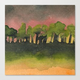 The Woods I Pink Canvas Print