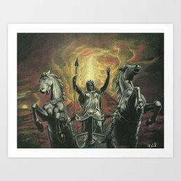 Boudica & Vesuvius Art Print