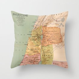 Map of Palestine in the Time of Christ (to 70 A.D.) Throw Pillow