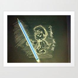 Smurf Glow Art Print