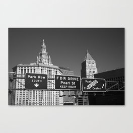 New York City with Traffic Signs 2013 Canvas Print