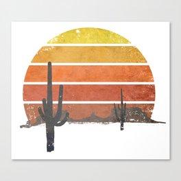 Runnin' Into The Sun Canvas Print