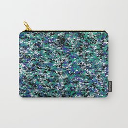 Blue Army Camouflage Abstract Splat Painting Carry-All Pouch
