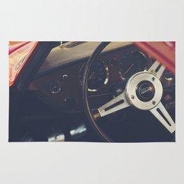 Triumph spitfire, english sports car fine art photography, classy man cave print Rug