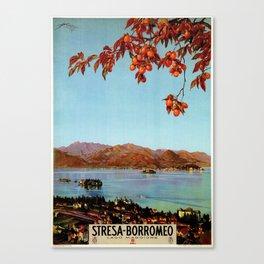 Stresa Borromeo Lake Maggiore 1927 Canvas Print