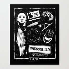 Welcome to Haddonfield! Canvas Print