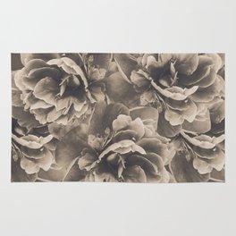 Sepia Peony Flower Bouquet #1 #floral #decor #art #society6 Rug